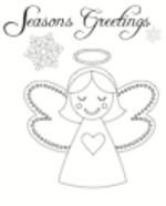Christmas Card Angel (1 page)