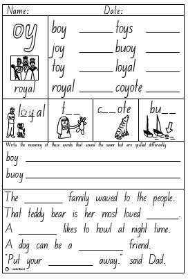 oy Activity Sheet