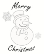 Christmas Card Snowman (1 page)