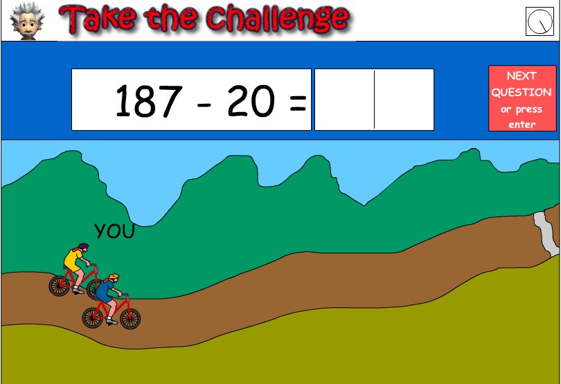 Mental strategies - subtract multiples of 10 from numbers up to 200