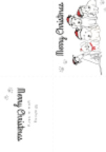 Christmas Puppy Card (1 page)
