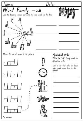 -ock Activity Sheet