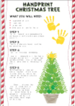 Handprint Christmas Tree (1 page)