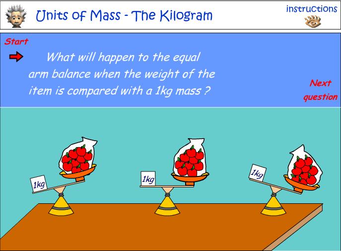 Comparing mass using the kilogram (kg)
