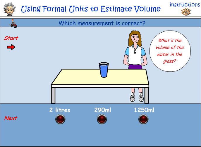 Using formal units to estimate volume