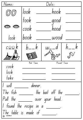 Vowel Digraph 'oo' as in look Activity Sheet