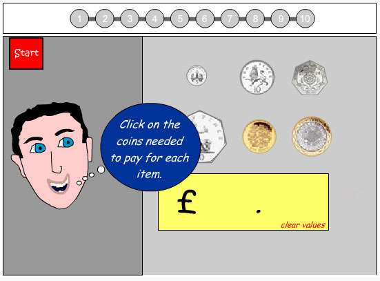 Using Coins to Make Purchases