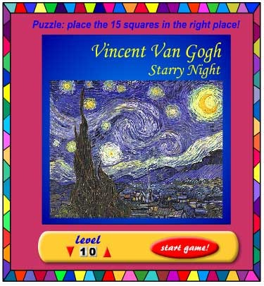 Starry Night Sliding Puzzle