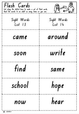 Flash Cards List 13 and 14