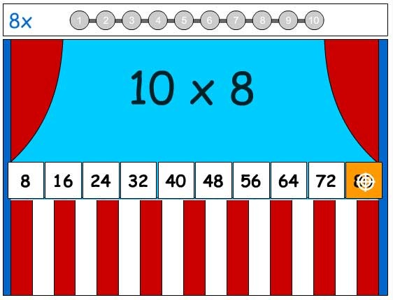 8X Tables Game - Learn the Number Facts