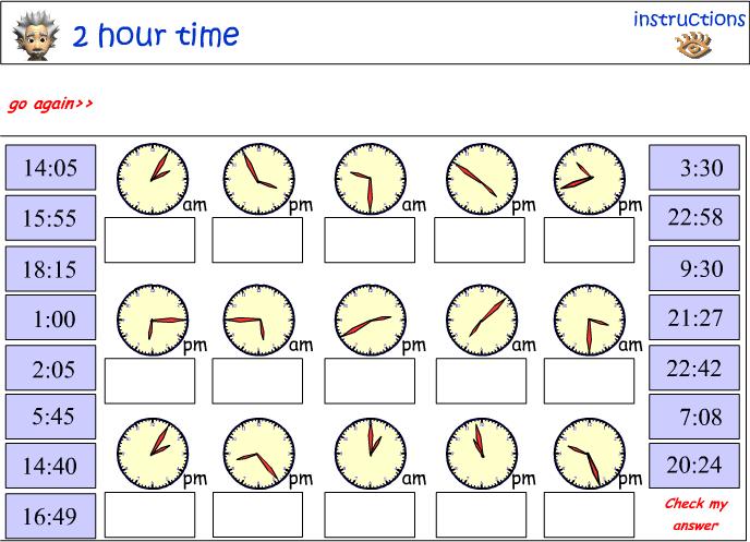 Twenty-four hour time match