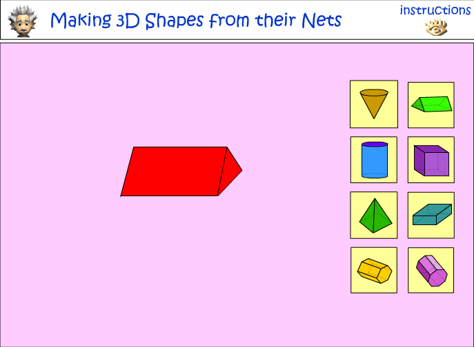 Creating 3D Objects from their nets
