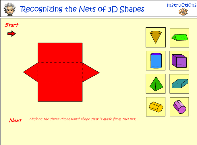 Recognizing the nets of 3D objects
