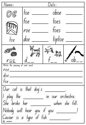 oe Activity Sheet