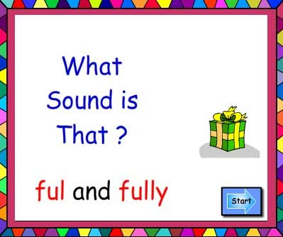 Suffixes ful and fully